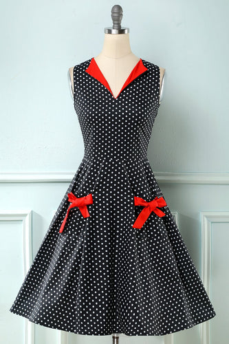 Polka Dots 1950 Swing Dress
