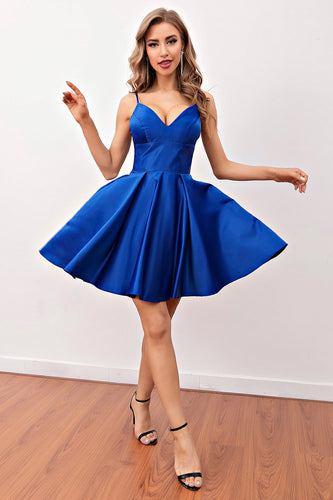 Royal Blue Short Prom Homecoming Sukienka
