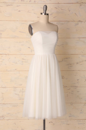 White Sweetheart Dress - ZAPAKA