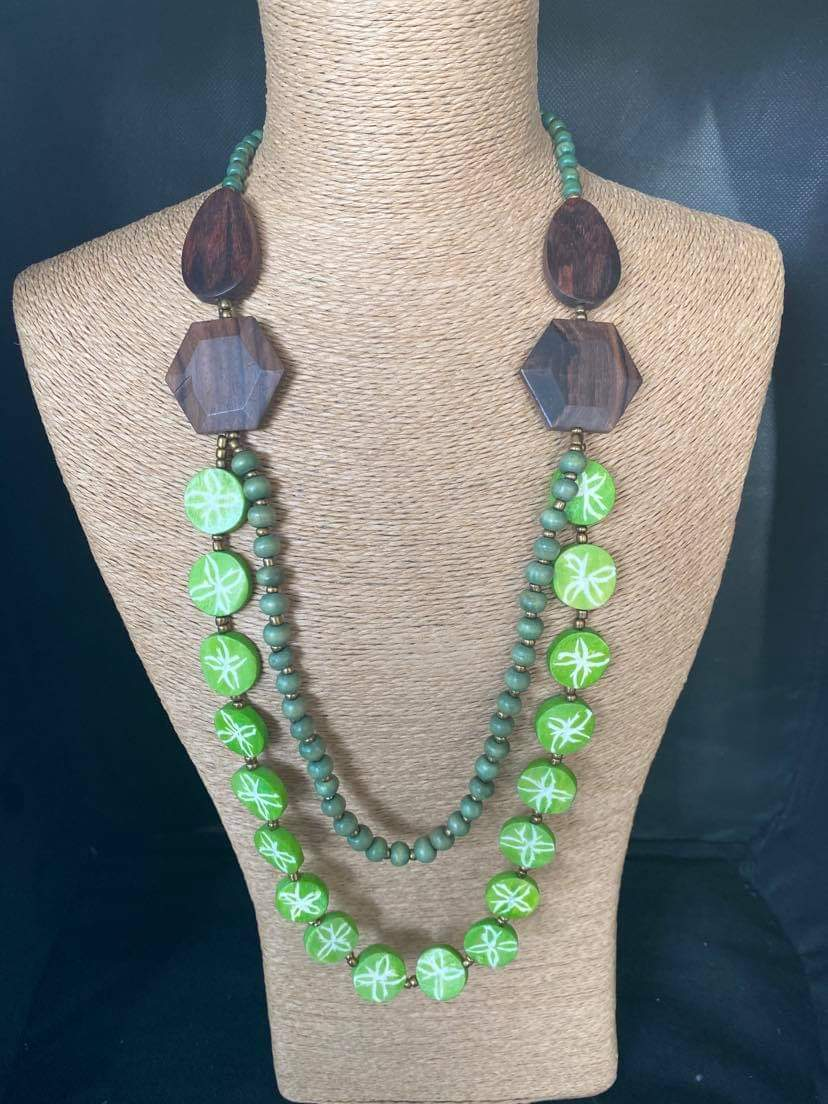 Wooden Lime Necklace