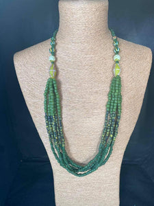 Ceramic Green Necklace
