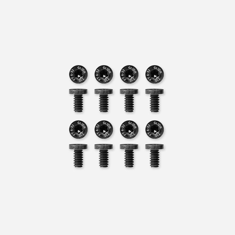 Flat T10 Pivot Screws - 8 Pack