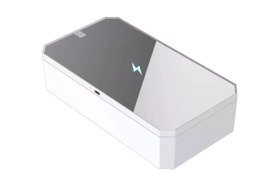Smartphone Sanitizer & Wireless Charger | Patented & Clinically Proven UV Light Disinfector | (White)