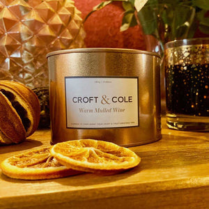 luxury scented candles blended to compliment your Christmas tree