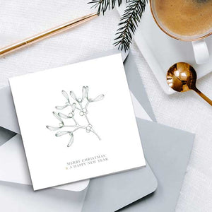 Foiled Foliage Christmas Cards