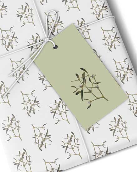 Luxury Mistletoe Gift Tags