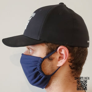 SMARTLINEN® Exclusive Navy Blue COVID-19 Relief Face Mask [MADE IN USA]
