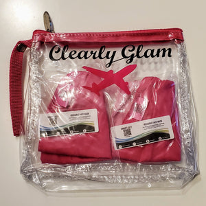 SMARTLINEN® Exclusive (LIMITED EDITION) BREAST CANCER AWARENESS Washable Face Mask with Clearly Glam TSA Clear Bag
