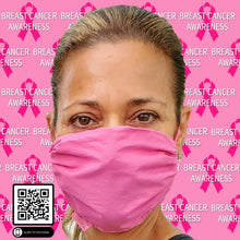 Load image into Gallery viewer, SMARTLINEN® Exclusive (LIMITED EDITION) BREAST CANCER AWARENESS Washable Face Mask with SILVERbac Antimicrobial Technology