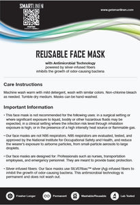 SMARTLINEN® Exclusive Washable Face Mask with SILVERbac Antimicrobial Technology