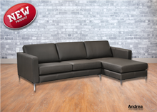 Load image into Gallery viewer, Andrea Leather Sofa Chaise