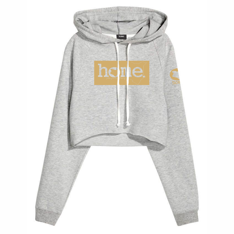 LIGHT GREY CROPPED HOODIE LIGHT FABRIC