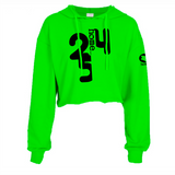 LIME GREEN CROPPED  HOODIE LIGHT FABRIC
