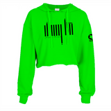 LIME GREEN CROPPED  HOODIE HEAVY FABRIC