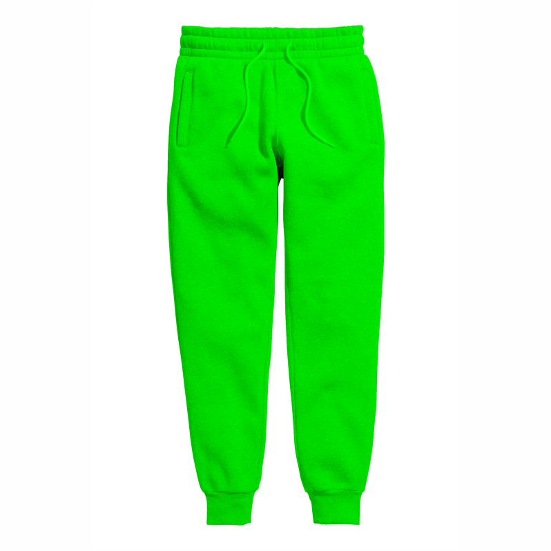 LIME GREEN  SWEATPANT LIGHT FABRIC