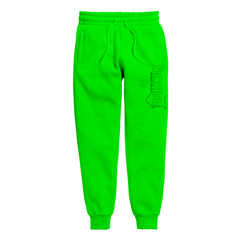 LIME GREEN  SWEATPANTS HEAVY FABRIC