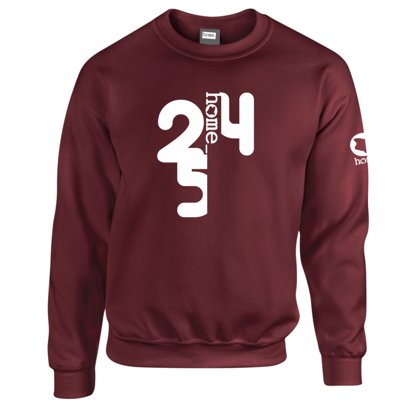 BURGUNDY SWEATSHIRT LIGHT FABRIC