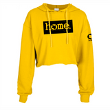 MUSTARD YELLOW CROPPED  HOODIE LIGHT FABRIC