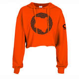 ORANGE CROPPED HOODIE HEAVY FABRIC