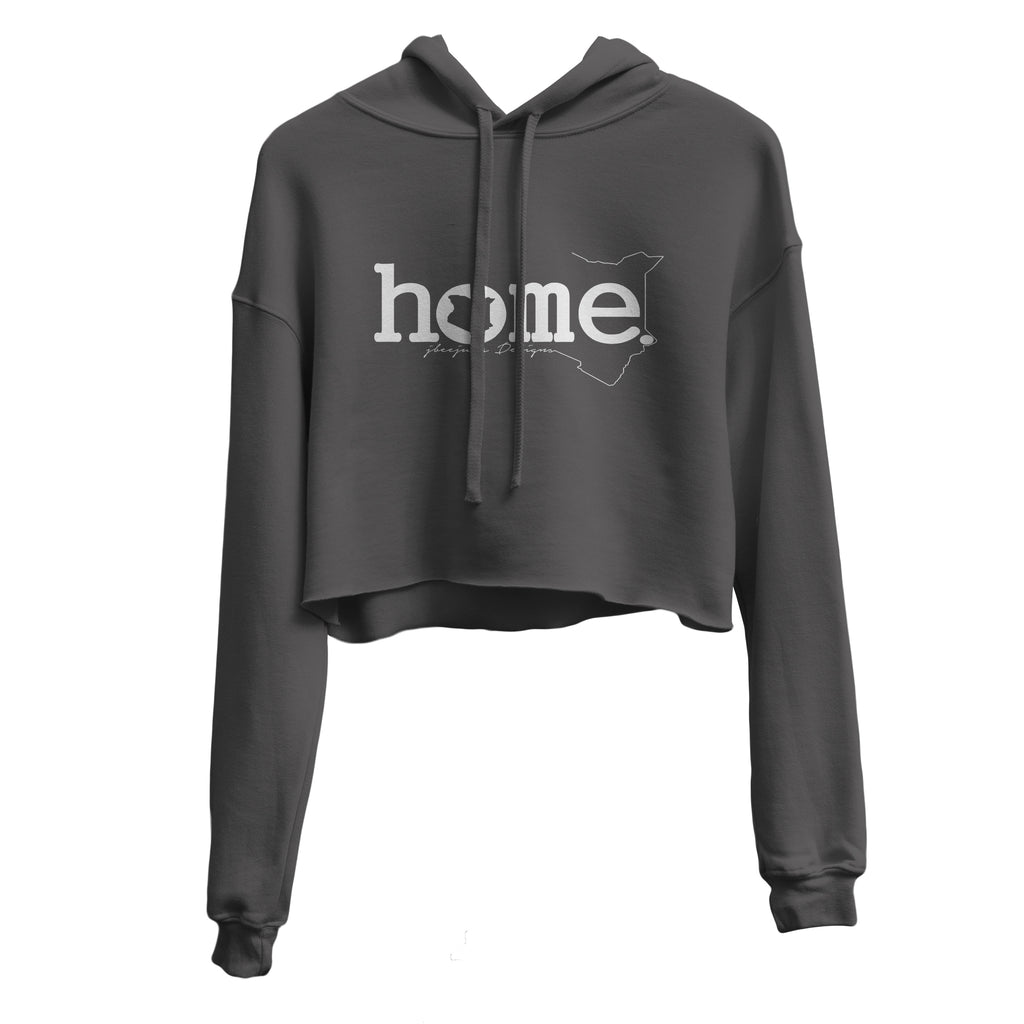 DARK GREY CROPPED HOODIE LIGHT FABRIC