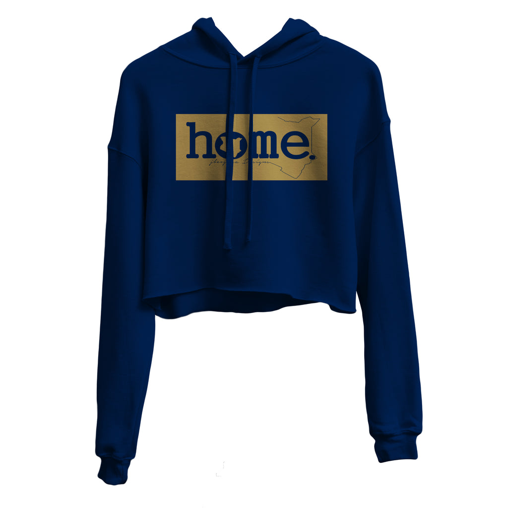 NAVY BLUE CROPPED HOODIE HEAVY FABRIC