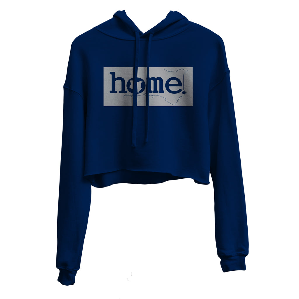 NAVY BLUE CROPPED HOODIE LIGHT FABRIC