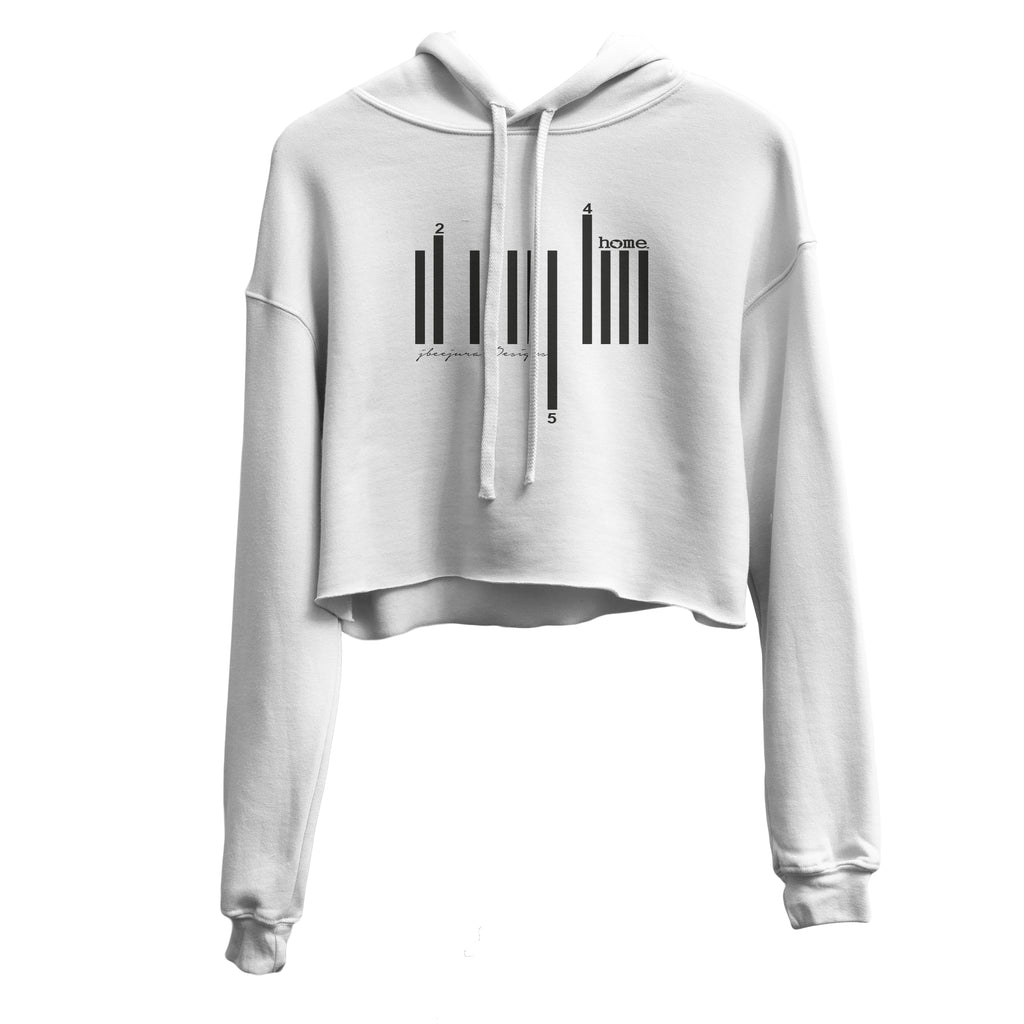 WHITE CROPPED HOODIE LIGHT FABRIC