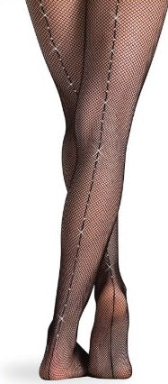 Fishnet Tights with Rinestones by: Body Wrappers