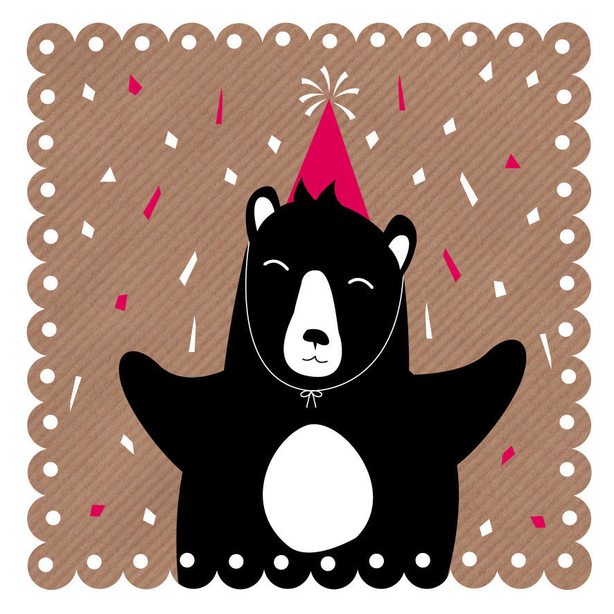 Bear Celebration Art Card