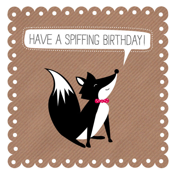 Spiffing Birthday Fox