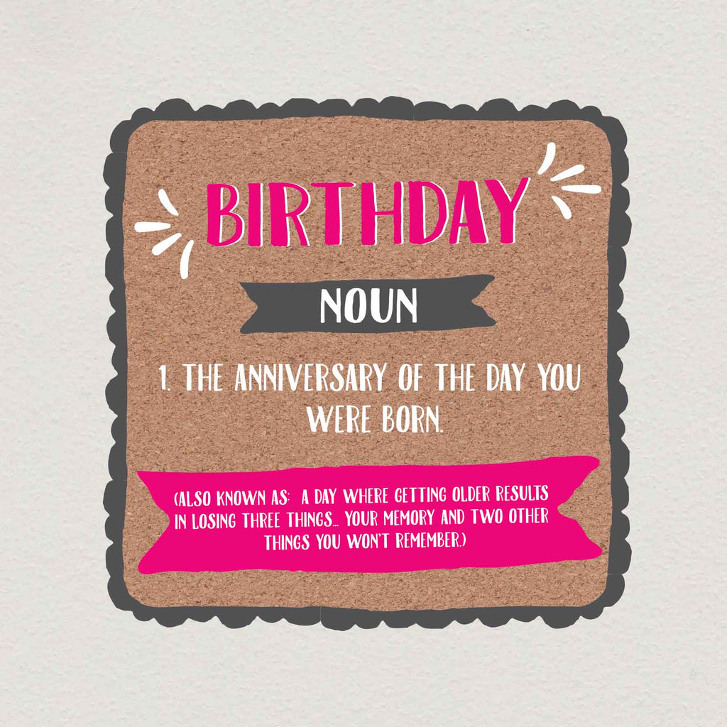 Funny Losing Your Memory Birthday Card