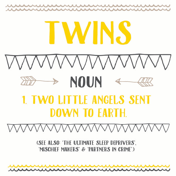 Funny Twins Card