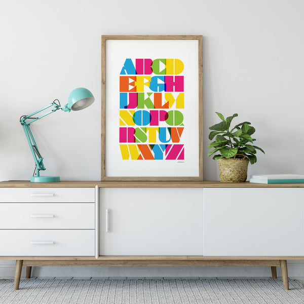 Multicoloured Alphabet Print