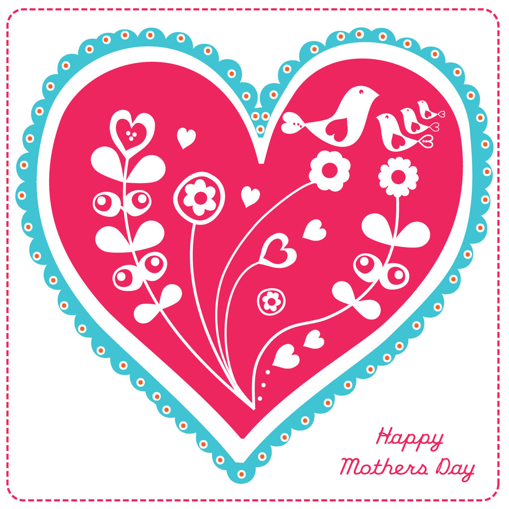 Happy Mothers Day Blooming Kisses Card