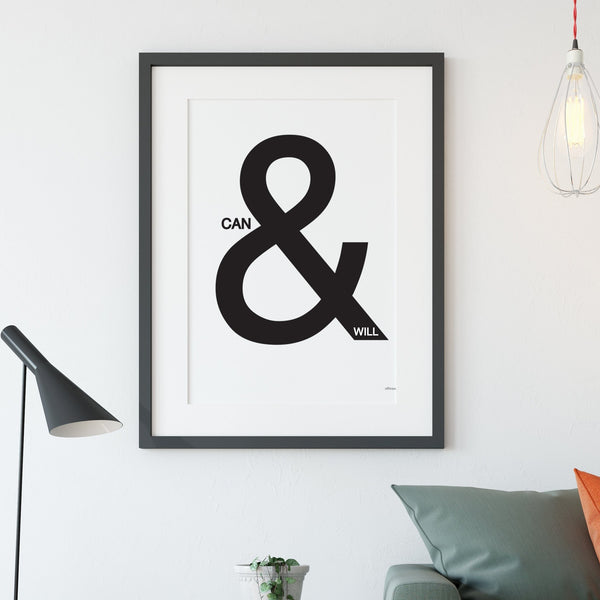 Can & Will Ampersand Print