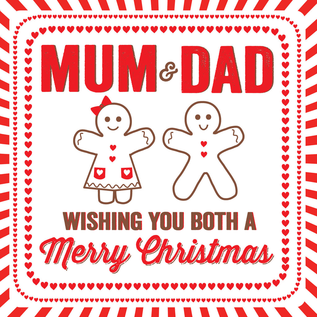 Mum & Dad Gingerbread Parents Christmas Card