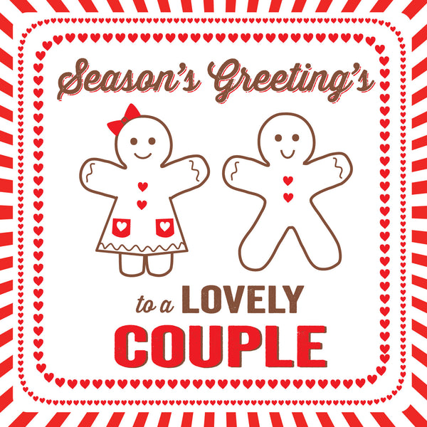 Special Gingerbread Couple Christmas Card