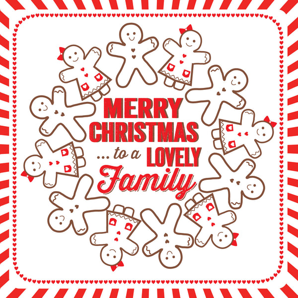 Merry Christmas To A Lovely Family Card