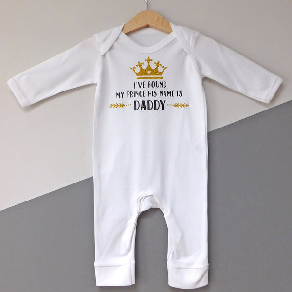Baby Girl Prince Daddy Babygrow/All In One