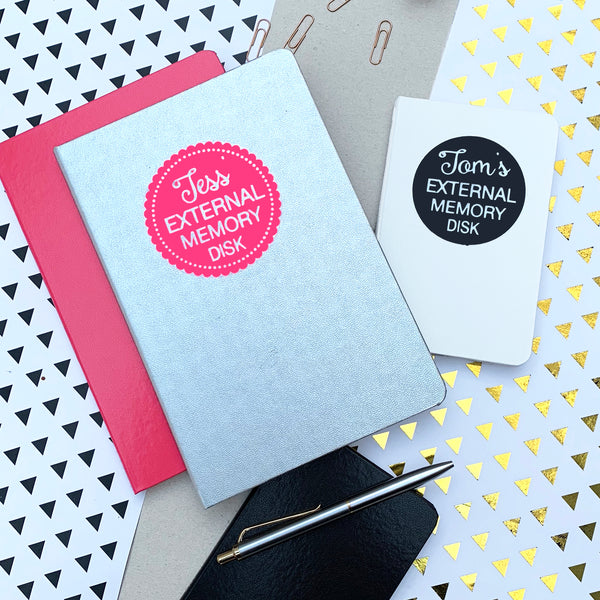 Personalised External Memory Disk Notebook