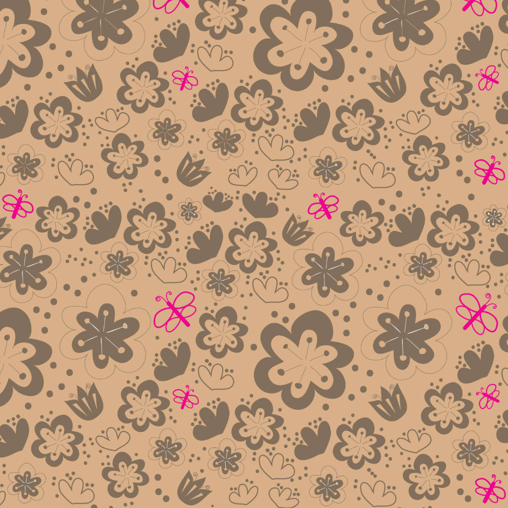 Moonwoods Flowers Giftwrap Kraft
