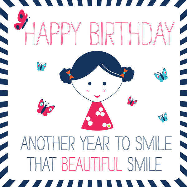 Happy Birthday Beautiful Smile Card