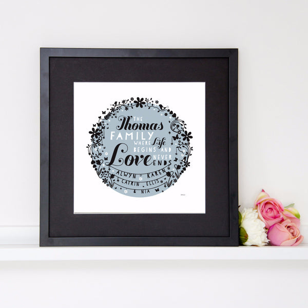 Personalise Family Print