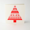 Snow Tree Letterpress Christmas Card