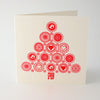 Peace Tree Letterpress Christmas Card
