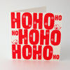 Ho Ho Ho Letterpress Christmas Card