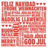 Merry Christmas Languages Letterpress Christmas Card