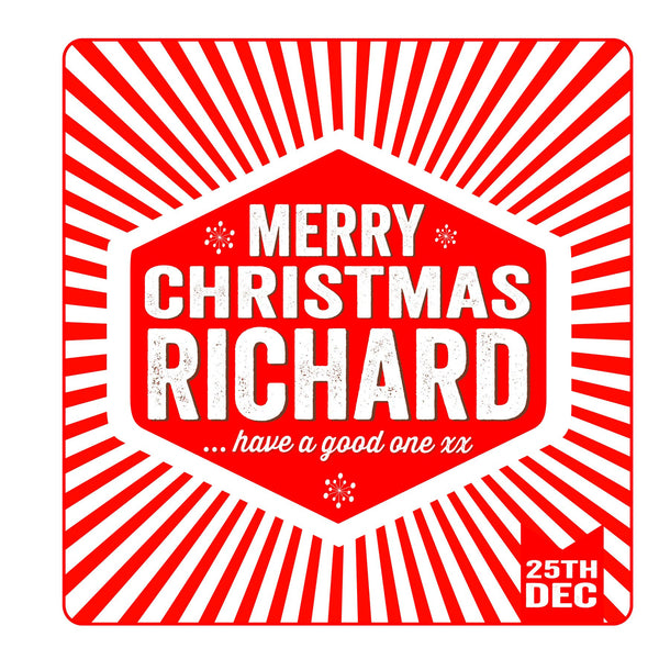 Personalised Retro Christmas Threads Card