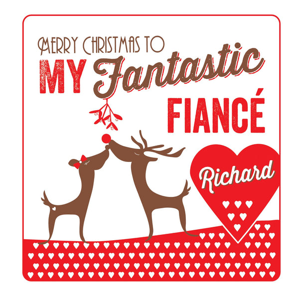 Personalised Fiancé Christmas Threads Card