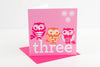 Three Girls Birthday Card
